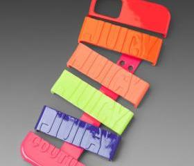 [grdx02160]Neon Multi Stackable Hard Cover Case For Iphone 4/4s