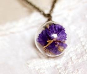 [grhmf2100006]Natural Suddenly Eecstasy Flower Crystal Necklace Pendant