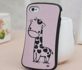[grdx00069]New Cartoon Giraffe Case for Iphone 4/4s