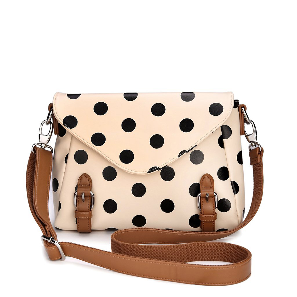 Retro cute Polka Dot Messenger Bag shoulder bag [grdx02180]