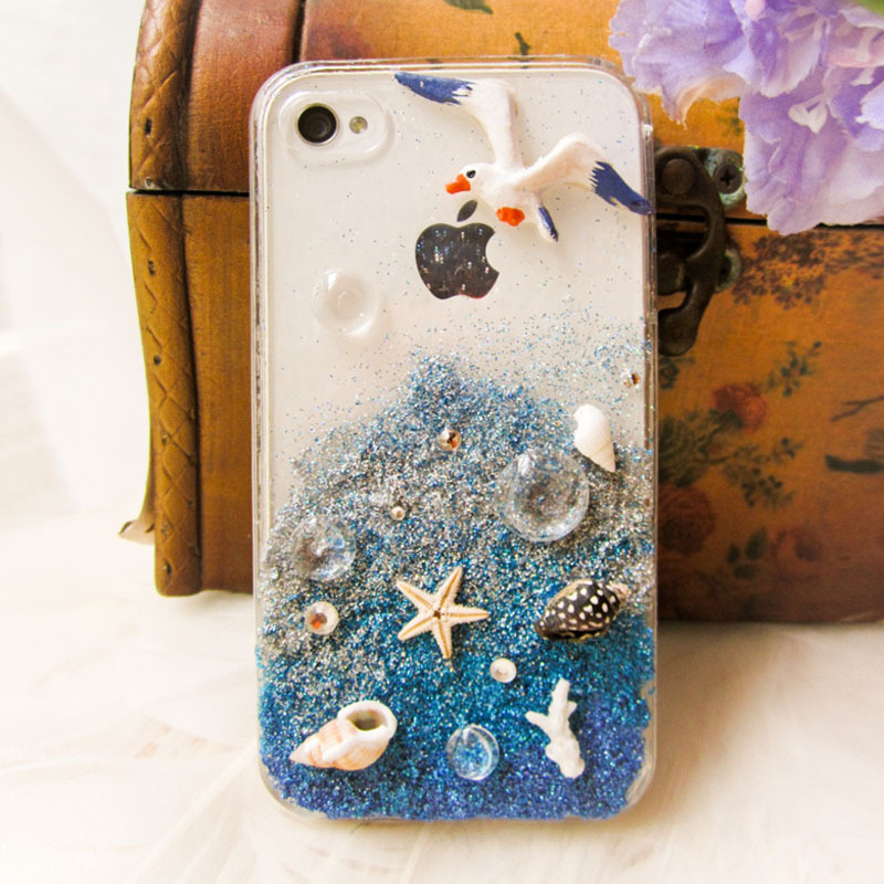 Beach gradient Handmade Case For Iphone 4/4s [grhmf2100023]